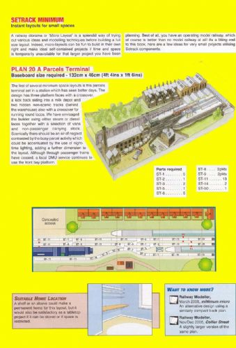 Peco New Plan 020 N Scale Minimum Space Layout 'A Parcels Terminal'